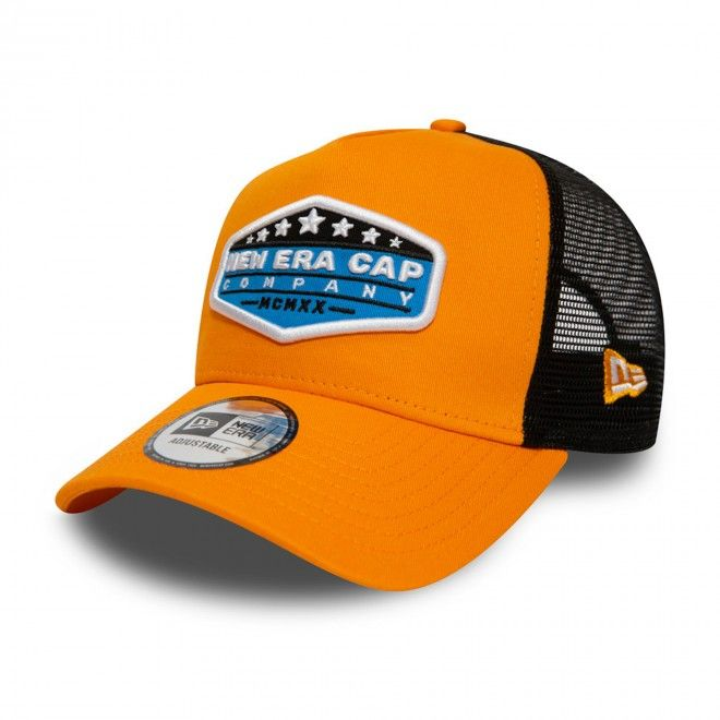 Boné New Era Usa Patch State Orange Trucker 12380942