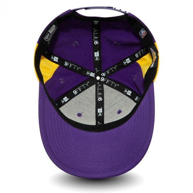 Boné New Era Los Angeles Lakers Hook Purple Stretch Snap 9Fifty Cap 12380980