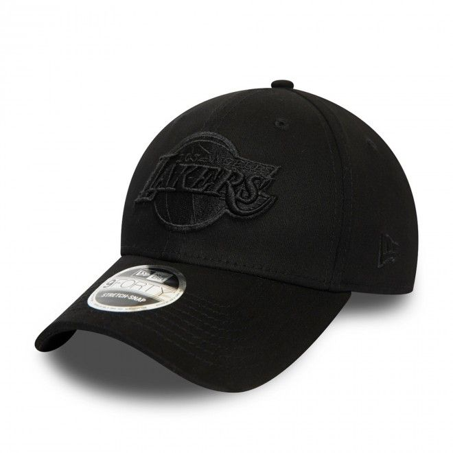 Boné New Era Los Angeles Lakers All Black Stretch Snap 9Forty Cap 12381211