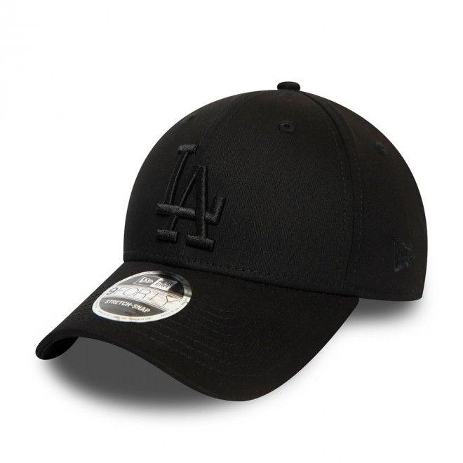 Boné New Era Los Angeles Dodgers All Black Stretch Snap 9Forty Cap 12381212