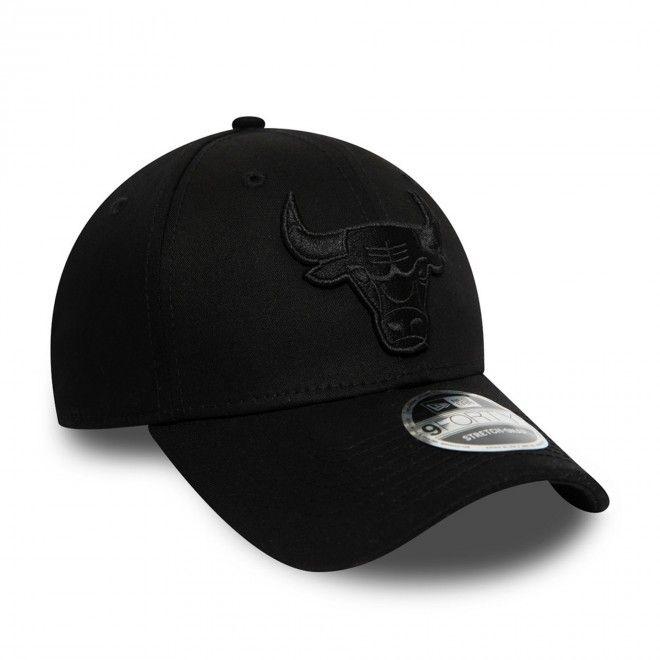 Boné New Era Chicago Bulls All Black Stretch Snap 9Forty Cap 12381214