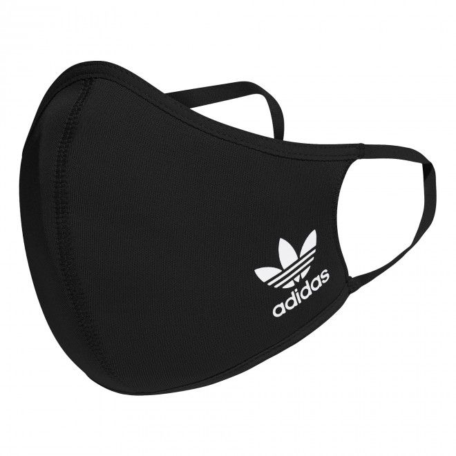 Conjunto de 3 Coberturas para Rosto Máscara Proteção Adidas Unissexo Preto Poliéster Elastano