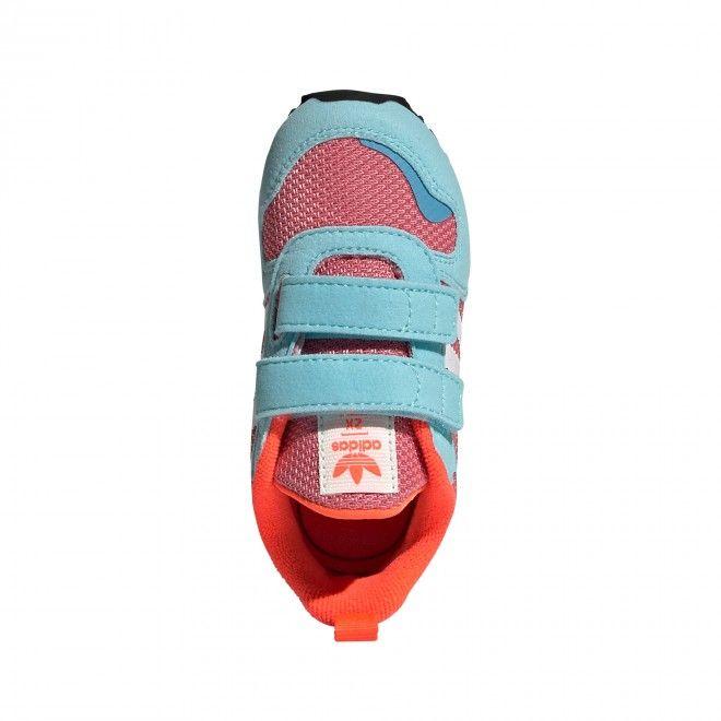 Sapatilhas Adidas ZX 700 HD CF Infantil Feminino Azul Malha Camurça FY2655