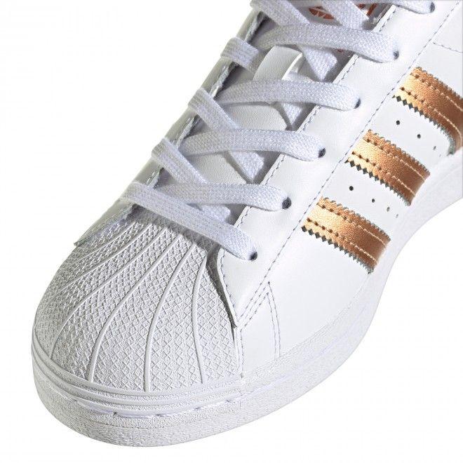 Sapatilhas Adidas Superstar Mulher Branco Pele FX7484