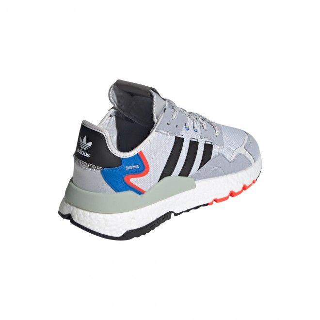 Sapatilha Adidas Nite Jogger Adulto Unissexo Cinza Malha Pele FX6835