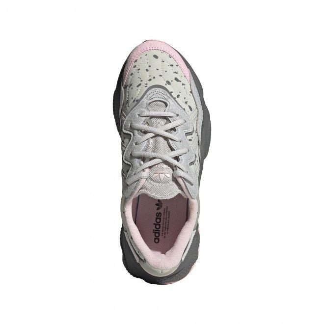 Sapatilhas Adidas Ozweego Mulher Cinza Rosa Malha FX6104