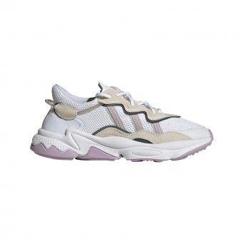 Sapatilhas Adidas Ozweego Mulher Branco Malha Camurça EG9204