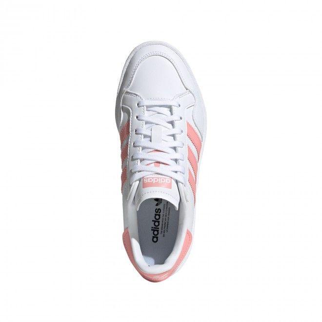 Sapatilhas Adidas Team Court Junior Feminino Mulher Branco Rosa Sintético EG9089