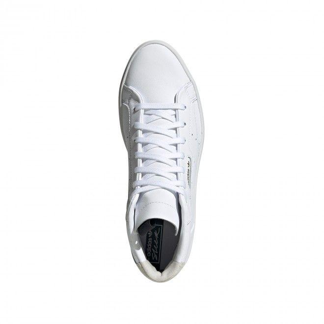 Sapatilhas Adidas Sleek Mid Mulher Branco Pele EE4726