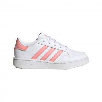 Sapatilhas Adidas Team Court Criança Branco Rosa Sintético EF6823