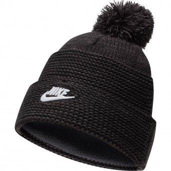 Gorro Nike Cuffed Pom Beanie Unissexo Preto Acrílico Lã DA2022-010