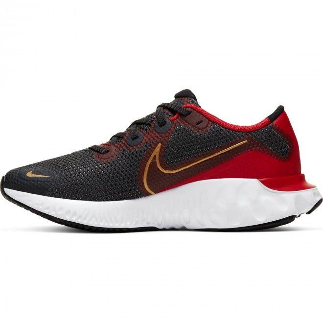 Sapatilhas Nike Renew Run (GS) Criança Masculino Cinza Vermelho Malha CT1430-009
