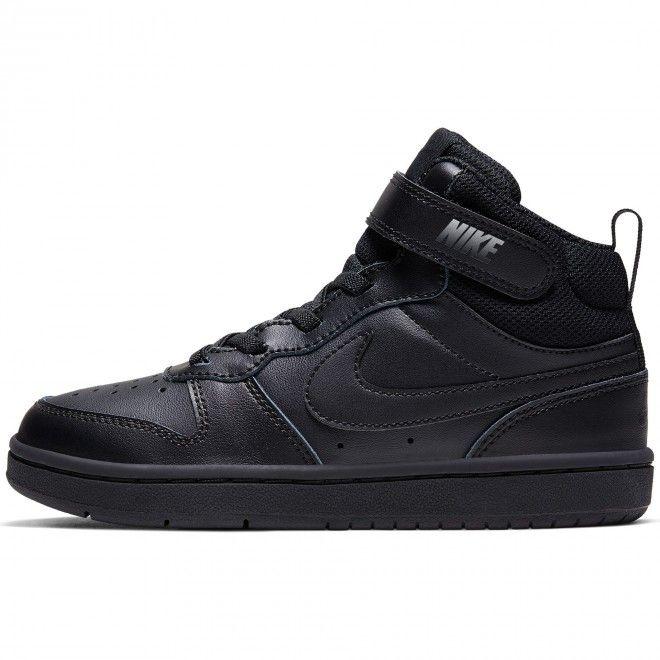 Sapatilhas Nike Court Borough Mid 2 Criança Masculino Preto Pele CD7783-001