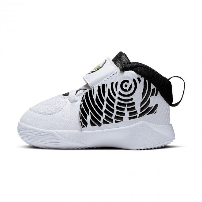Sapatilhas Nike Team Hustle D 9 Infantil Unisexo Branco Malha AQ4226-100