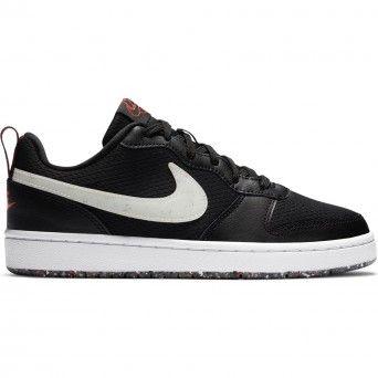 Sapatilhas Nike Court Borough Low 2 SE Unisexo Preto Pele Malha CZ7154-001