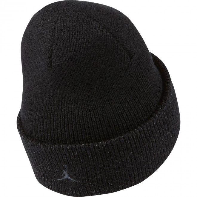 Gorro Nike Jordan Cuffed Beanie Unisexo Preto Malha Acrílico CW6405-010