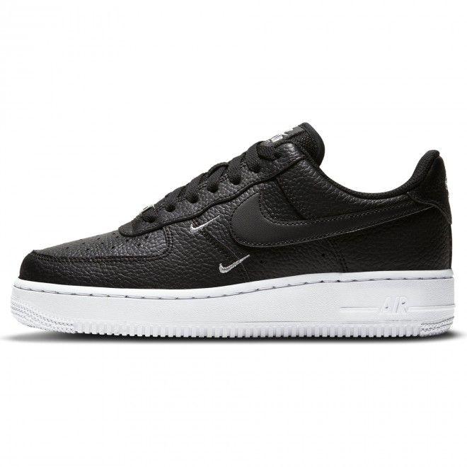 Sapatilhas Nike Air Force 1 '07 Essential Unisexo Preto Branco Pele CT1989-002