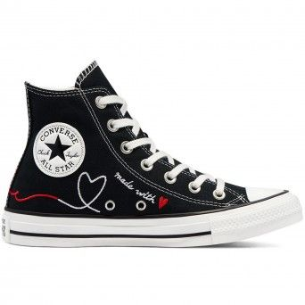 Botas Converse Valentine's Day Chuck Taylor All Star High Top Mulher Preto Lona 171158C