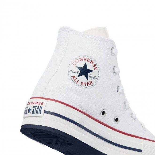 Botas Converse Chuck Taylor All Star EVA Lift High Top Criança Rapariga Branco Lona 671108C