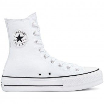 Botas Converse Chuck Taylor All Star Lift Mulher Branco Lona 170051C