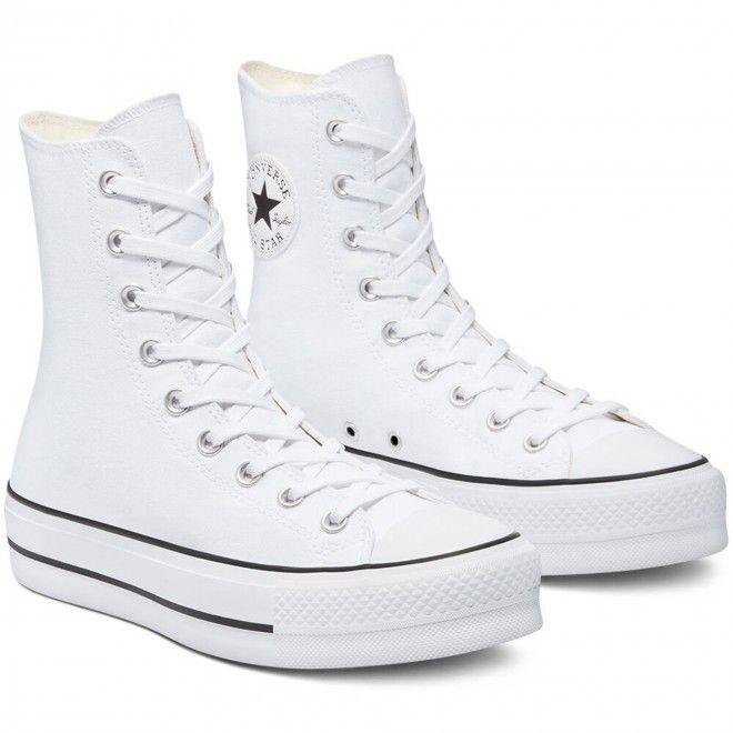 Botas Converse Chuck Taylor All Star Lift Mulher Branco Lona 170051C