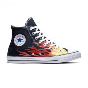 Botas Converse Chuck Taylor All Star HI-Top Archive Print Flame Unissexo Adulto Preto Lona 171130C
