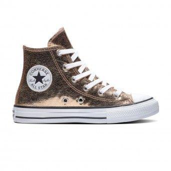 Botas Converse Chuck Taylor All Star Hi-Top Criança Rapariga Bronze Lona 671096C
